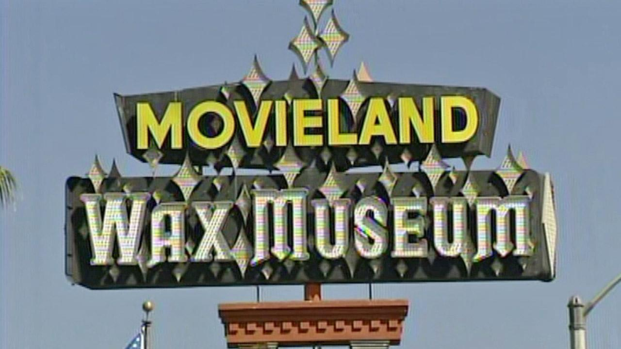 The Movieland Wax Museum sign in Buena Park is shown in this undated file photo.