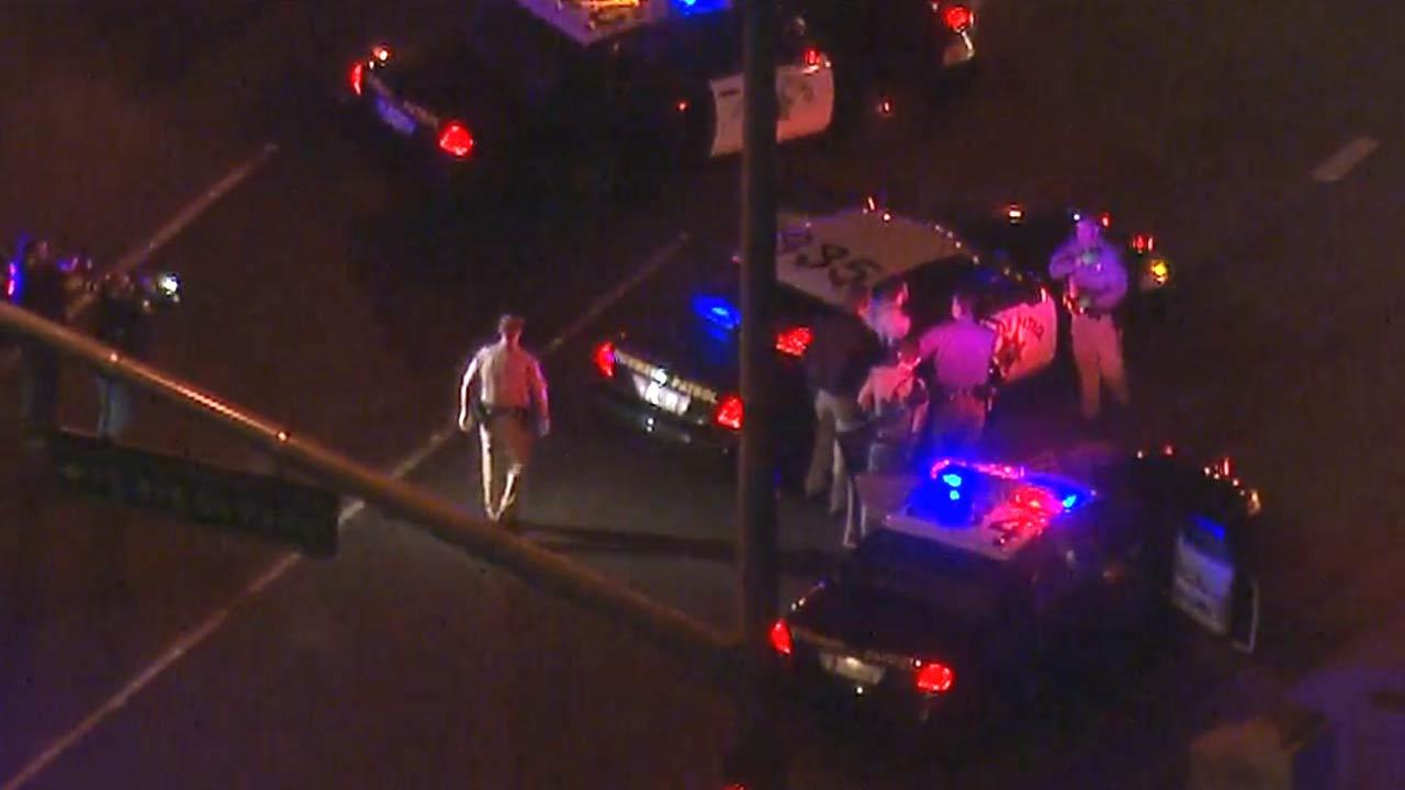 The driver of a U-Haul rental truck was taken into custody after leading authorities in a high-speed pursuit from Riverside into Orange County on Thursday, April, 24, 2013.