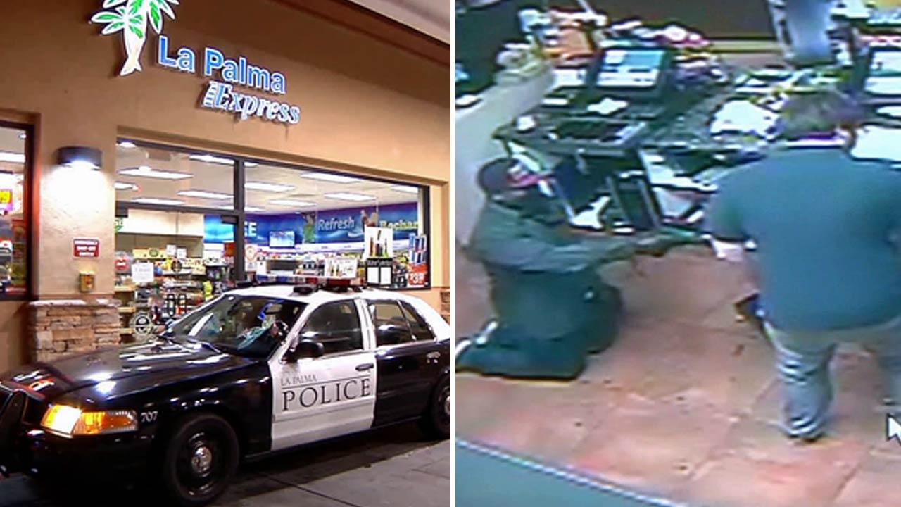 Police are asking for the publics help in identifying a man who robbed a 76 gas station on La Palma Avenue and Walker Street in La Palma on Monday, May 6, 2013.