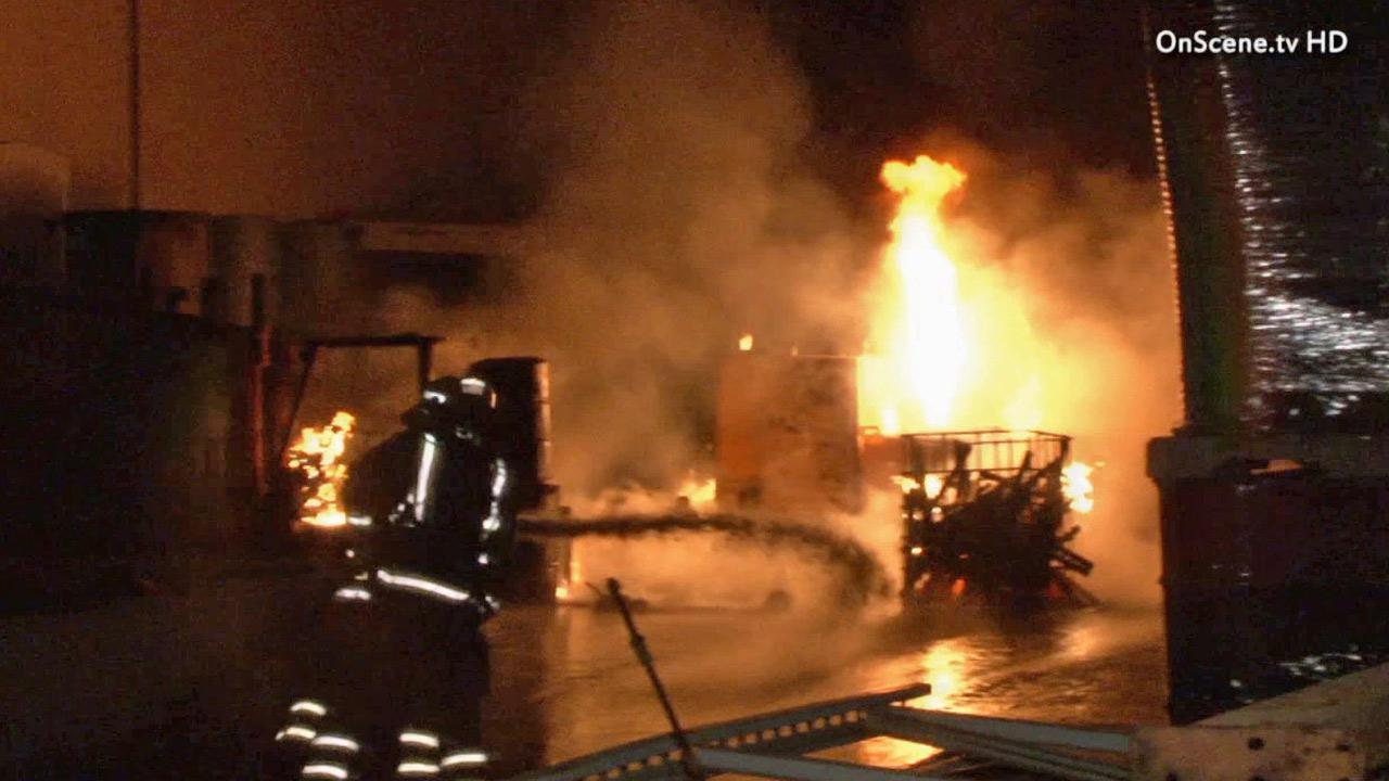 A fire broke out in an industrial area of Buena Park in the 6700 block of 8th Street at around 11:30 p.m. Sunday, June 30, 2013.