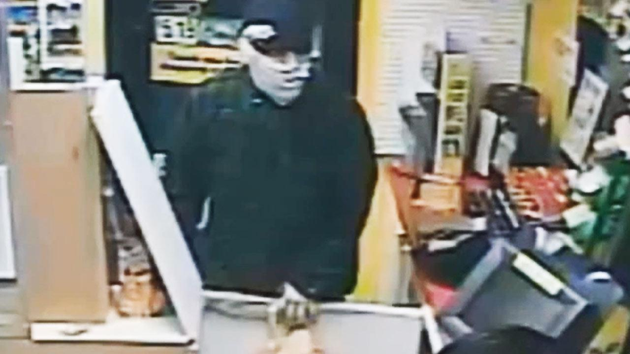 A masked suspect robbed a Mission Viejo gas station at 1:43 a.m. Wednesday, July 10, 2013.