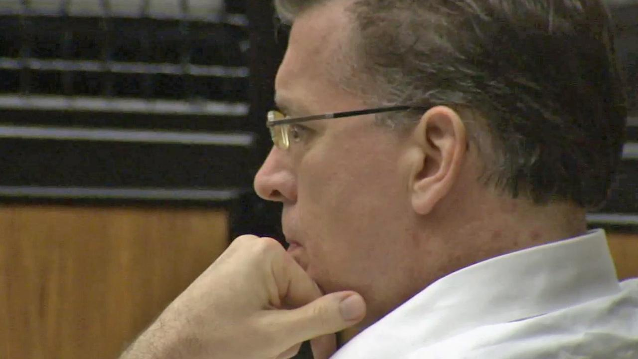 Rainer Klaus Reinscheid listens to a victims testimony during a sentencing hearing on Tuesday, Aug. 20, 2013.