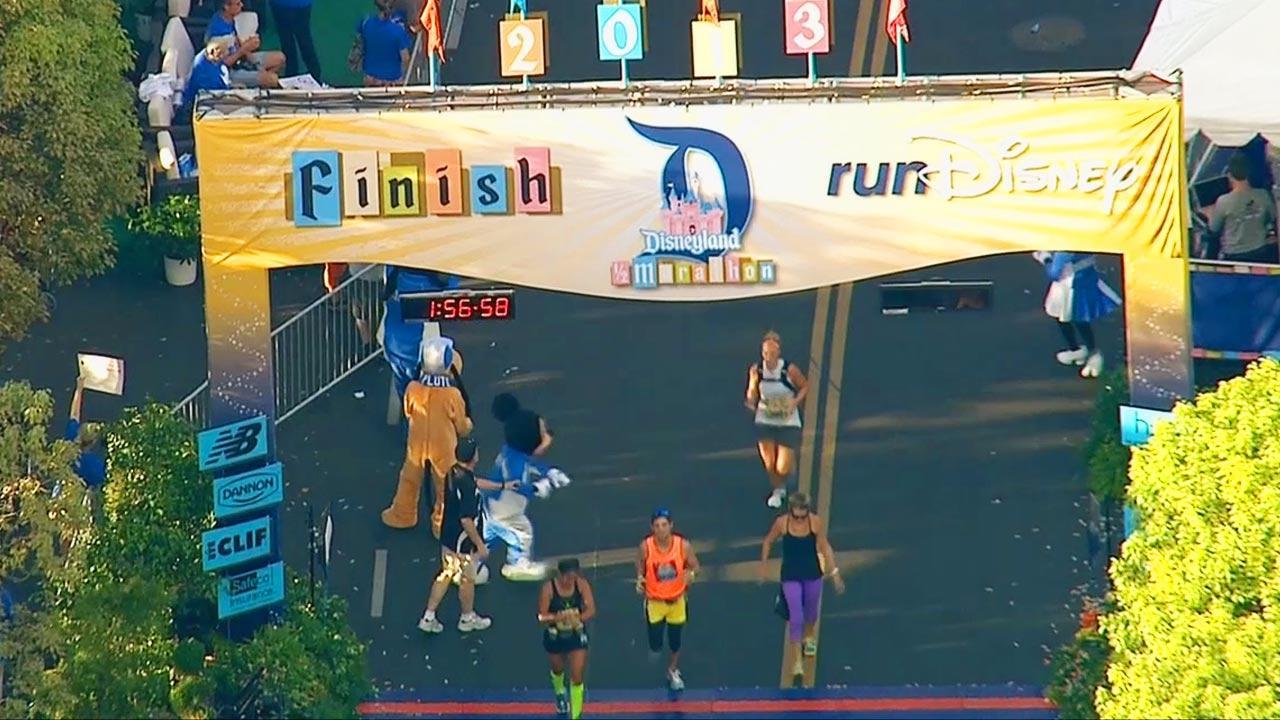 Nearly 16,000 runners took part in the Disneyland Half Marathon Sunday morning, September 1, 2013.