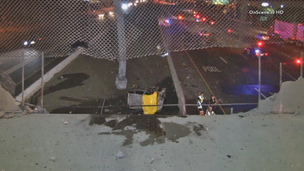 A single-car collision in Irvine killed the driver and caused roadway closures late Sunday, Sept. 8, 2013.