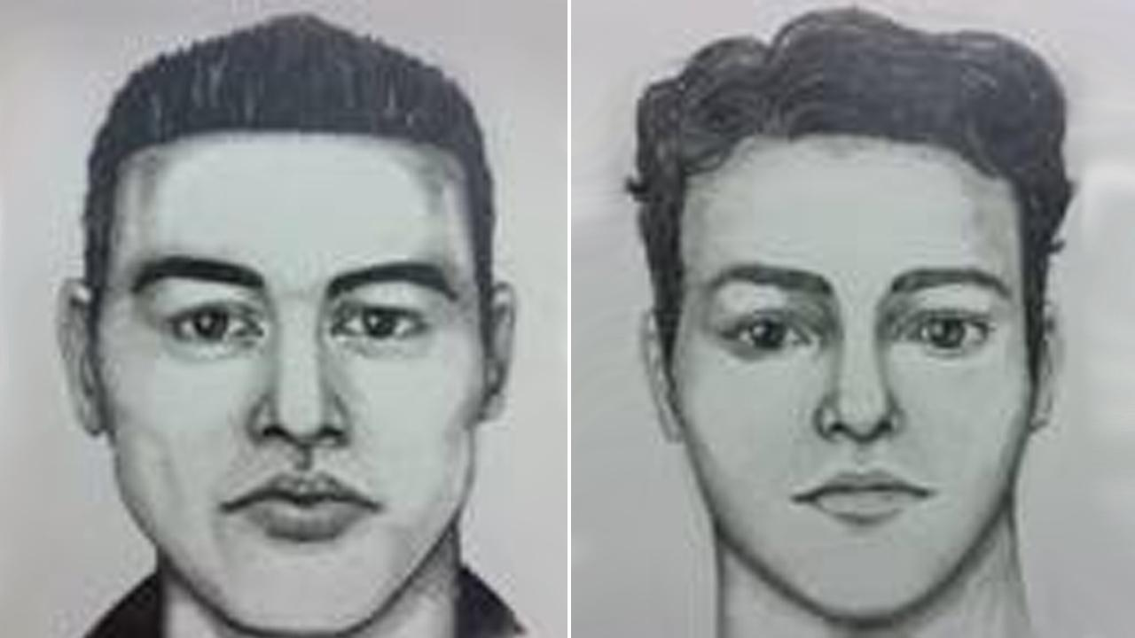 Composite sketches show a suspect wanted for multiple home burglaries in Irvine.
