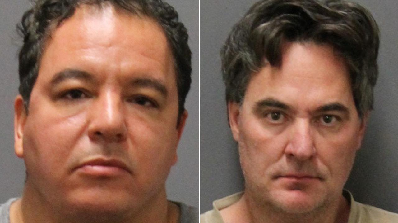 Vincent Lopreto, 48, and Ronald Bell, 49, appear in booking photos. Theyre accused of selling counterfeit artwork.
