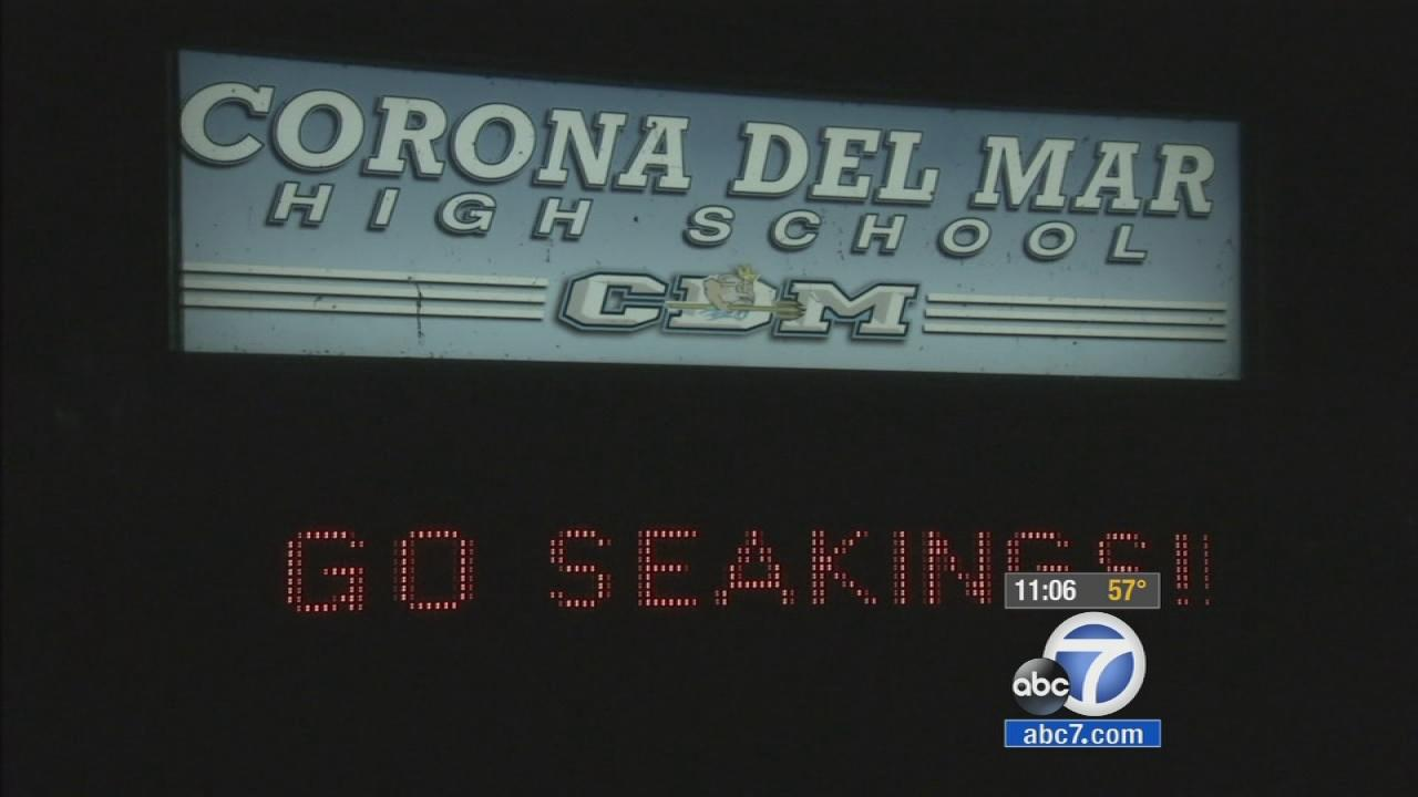 Corona del Mar High School is seen on Dec. 18, 2013.