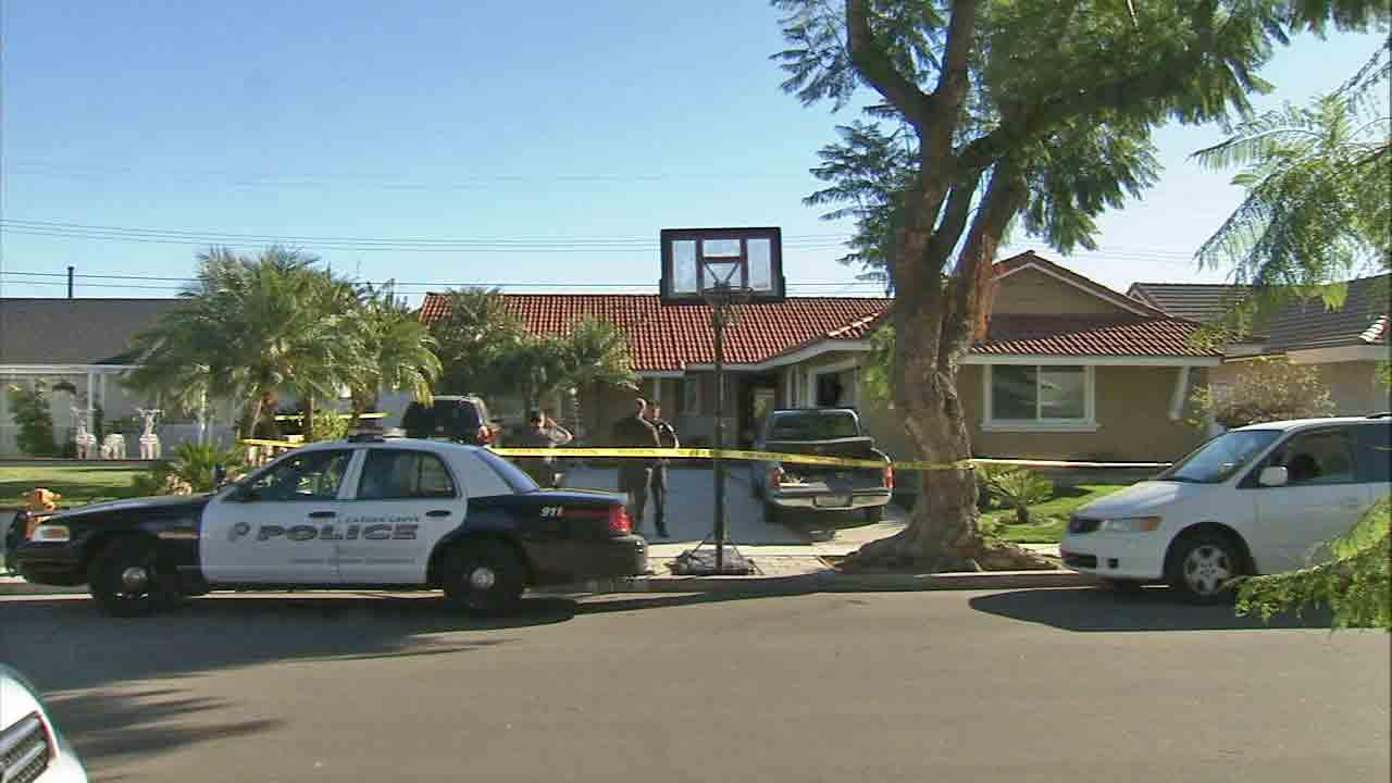 An investigation is underway in the 1500 block of Sail Avenue in Garden Grove after a couple was found shot to death in an apparent murder-suicide Thursday, Dec. 26, 2013.