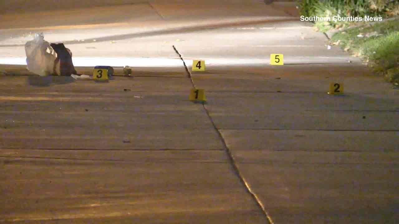 An investigation is underway after a suspect shot a man following a robbery on the 1000 block of East Fourth Street in Santa Ana on Monday, Dec. 30, 2013.