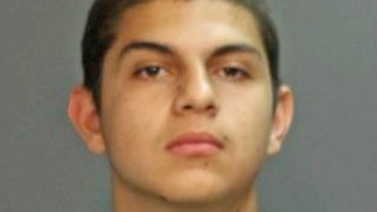 Osvaldo Vallejo, 18, is shown in a booking photo from the Sana Ana Police Department. Vallejo was arrested for an alleged carjacking and stabbing incident on Monday, Jan. 20, 2014.