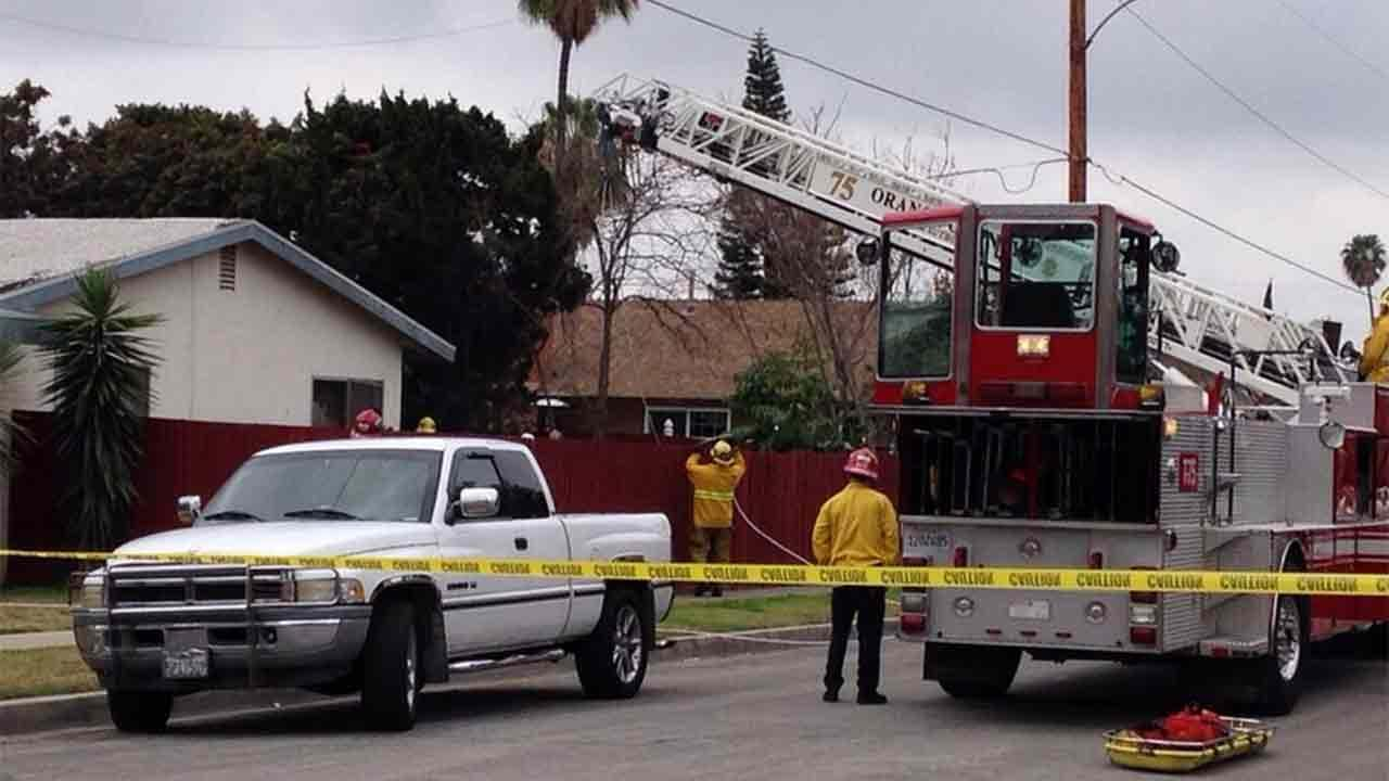 A 27-year-old man was found dead in a tree after being electrocuted on the 15600 block of South California Street in Tustin Sunday, Feb. 9, 2014.