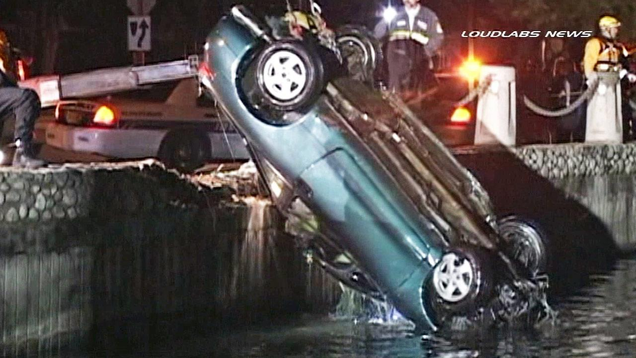 A car is pulled out of North Lake in Irvine on Friday, Feb. 28, 2014.