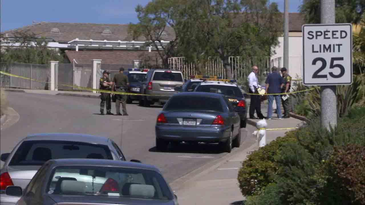 Orange County deputies respond to the scene of a shooting on the 3200 block of Crete Road in Dana Point Sunday, March 9, 2014.