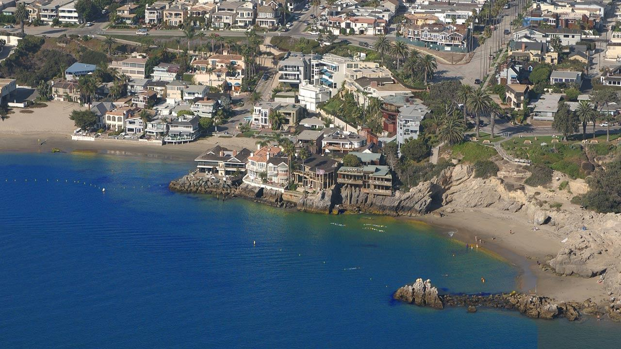 Homes are seen along the coast of Orange County in this undated file photo.