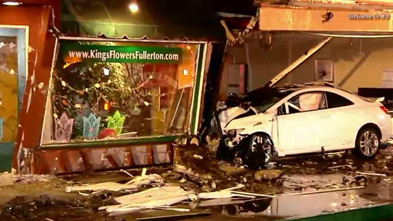 Two hit-and-run suspects struck Kings Flower in the 1500 block of west Commonwealth Avenue in Fullerton Sunday, April 27, 2014.