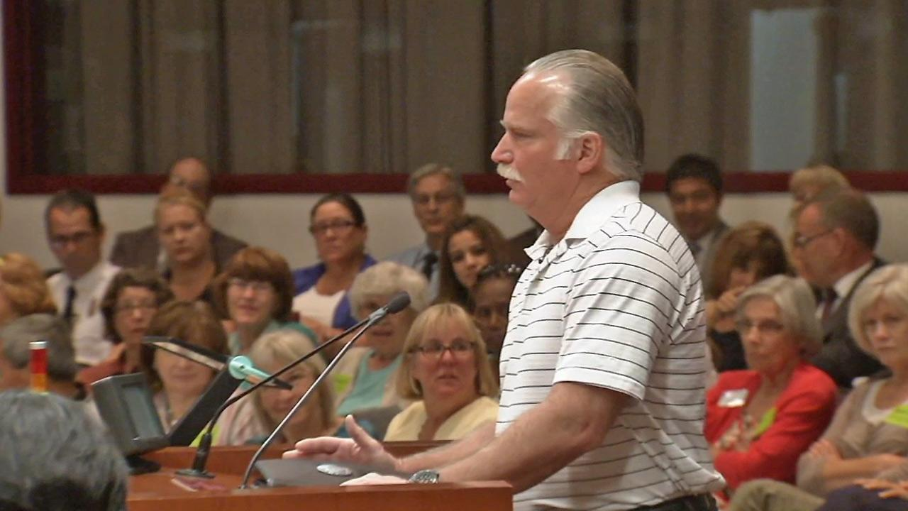 Ron Thomas, father of Kelly Thomas, speaks about Lauras Law at a meeting for the Orange County Board of Supervisors on Tuesday, May 13, 2014.