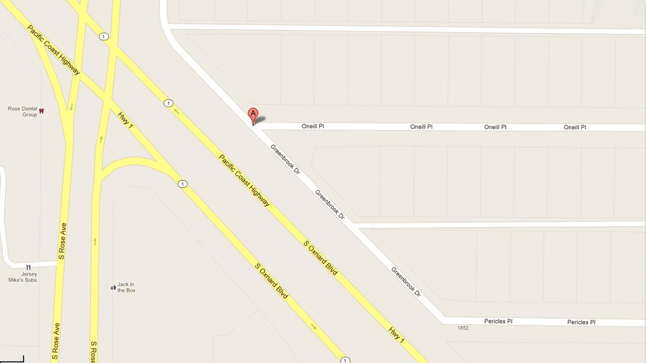 This Google map shows the intersection of Greenbrook Drive and ONeill Place in Oxnard, where two men were shot, one fatally, on Monday, July 9, 2012.