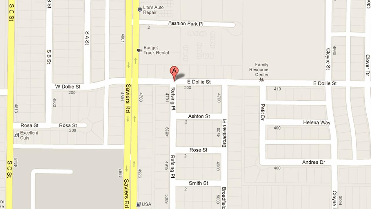 The 200 block of East Dollie Street in Oxnard is seen in this map.