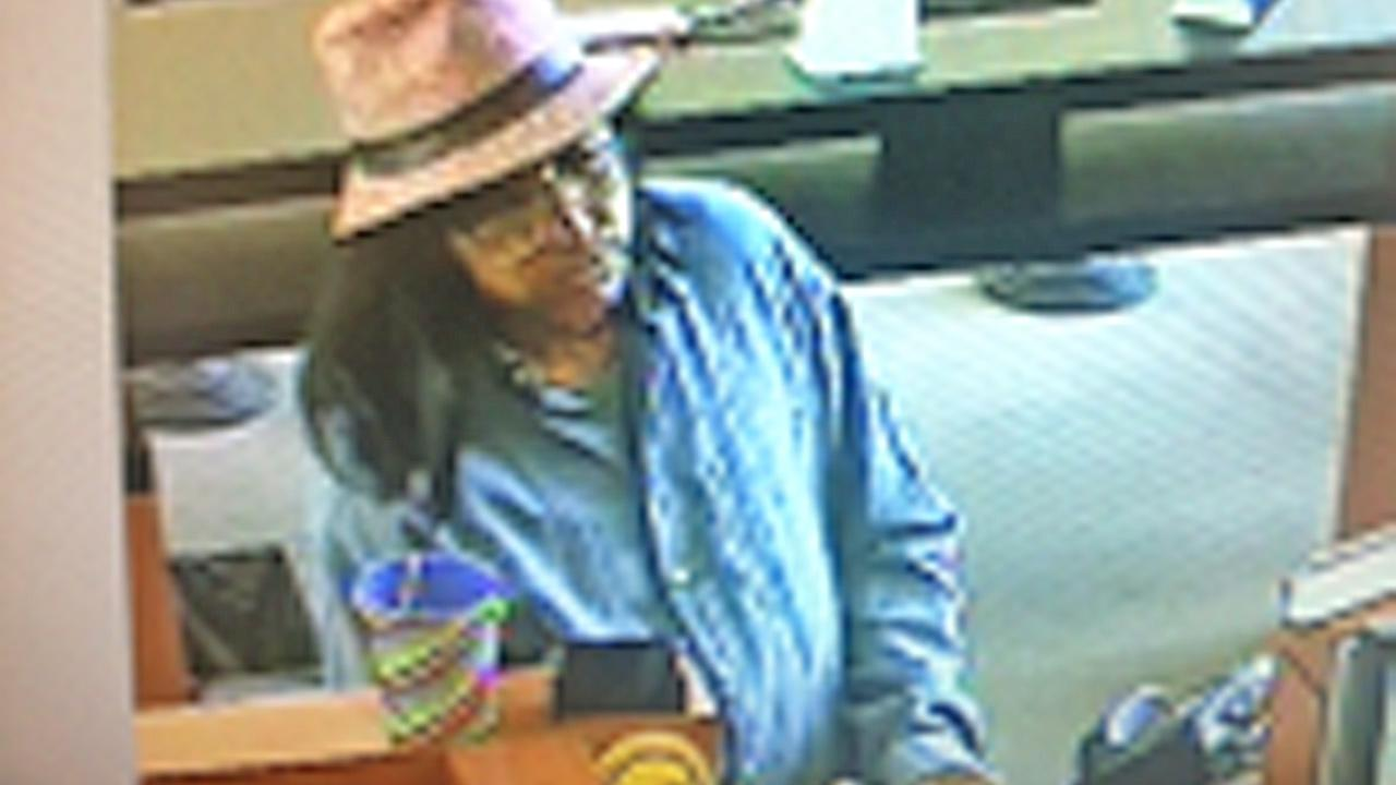 This still from footage shows an alleged bank robbery suspect at a Bank of the West in Oxnard on Monday, August 13, 2012.