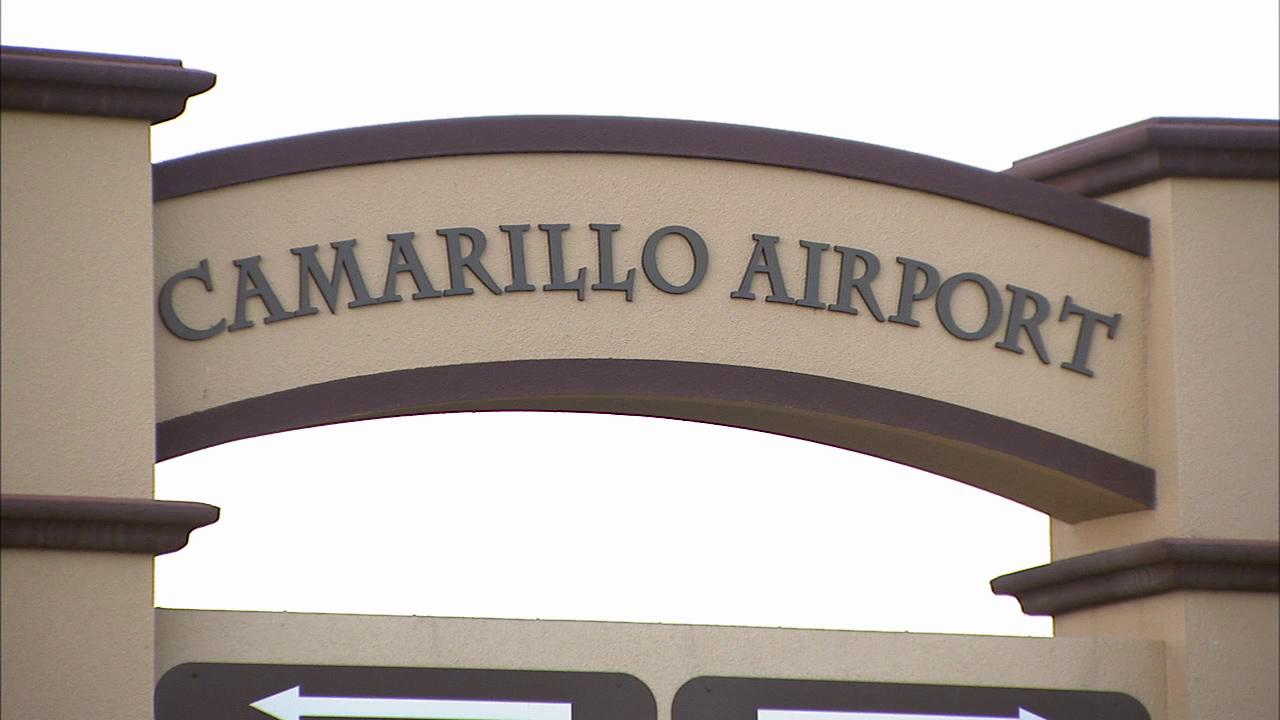 This file photo shows a sign for the Camarillo Airport.