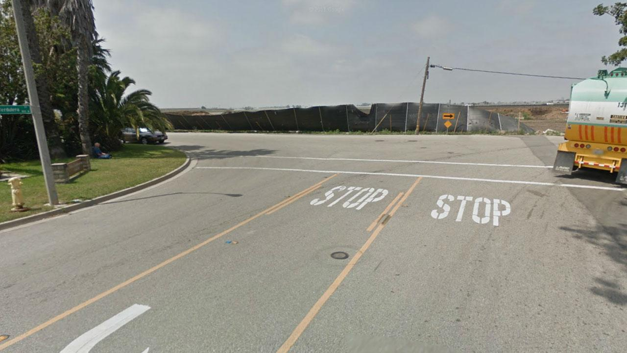 Undated photo of Wood Road and Verdulera Street, Camarillo, Calif.