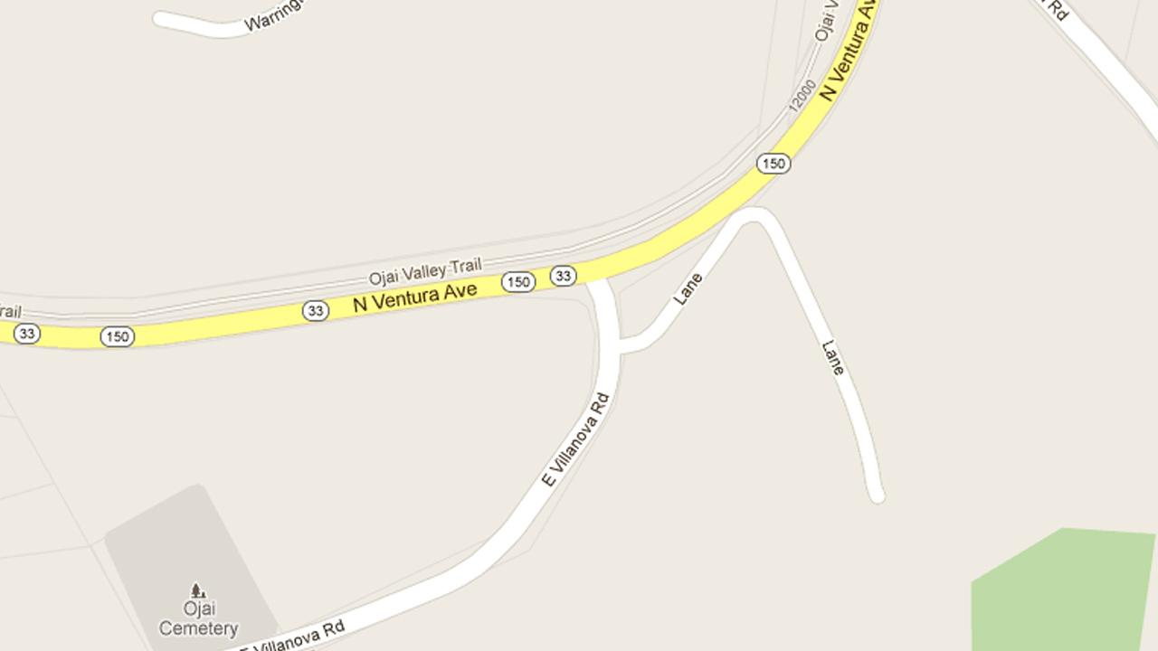 Four people were injured after a driver veered into an oncoming lane and collided with another vehicle near North Ventura Avenue and Villanova Road in the city Ojai on Sunday, March 31, 2013.