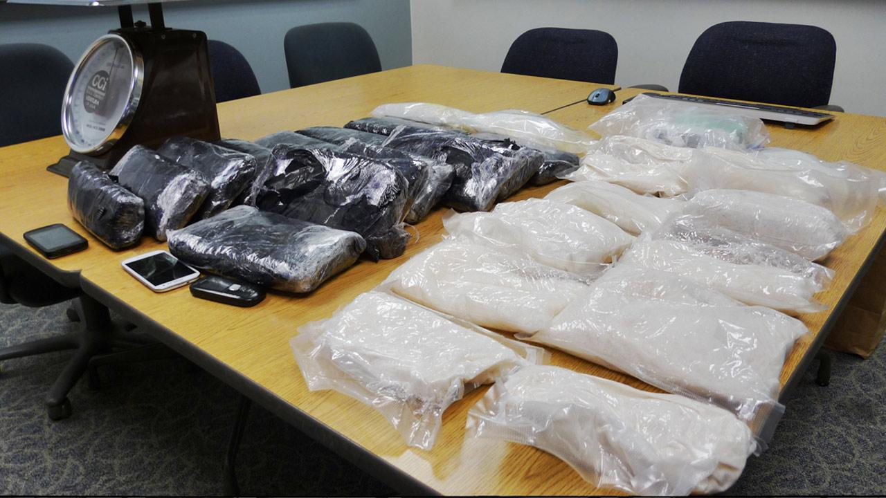 Simi Valley narcotics detectives recently conducted an investigation leading to Riverside County, where they seized approximately 70 pounds of meth and $20,000 in cash.