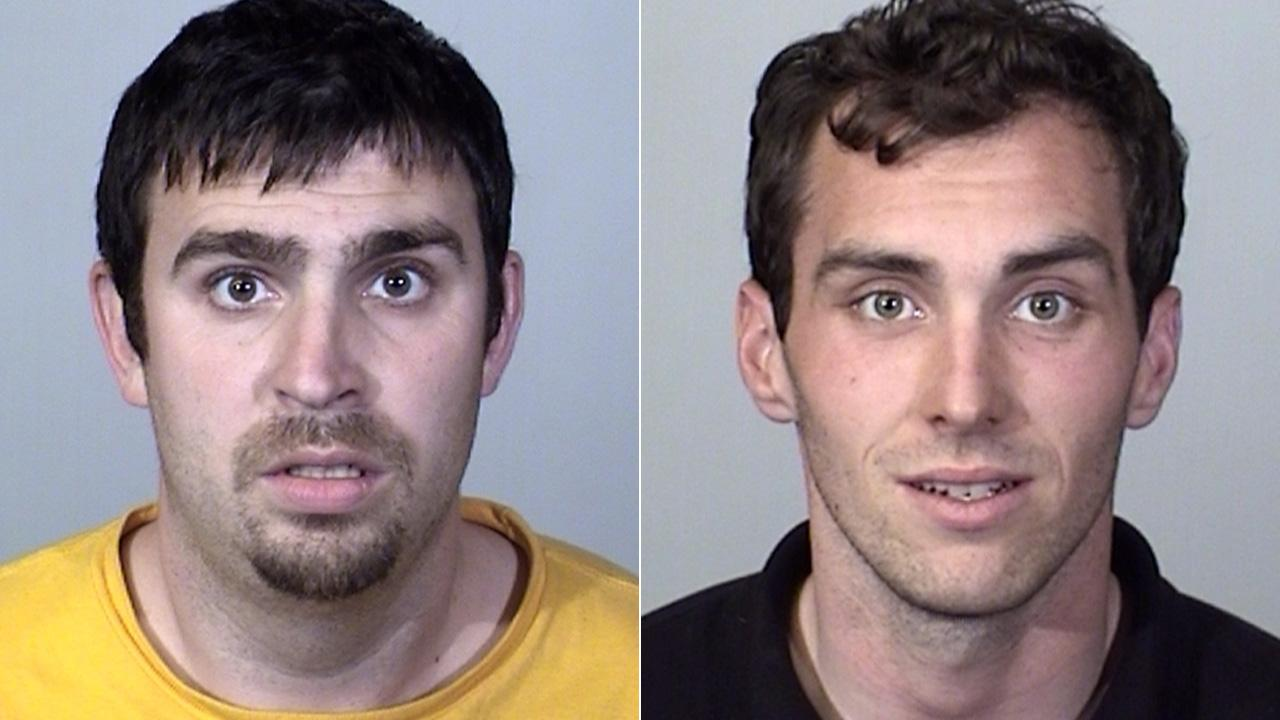 Robert McKee, left, and Cameron Fletcher, right, were arrested Wednesday, May 8, 2013, following a marijuana bust in Oxnard.