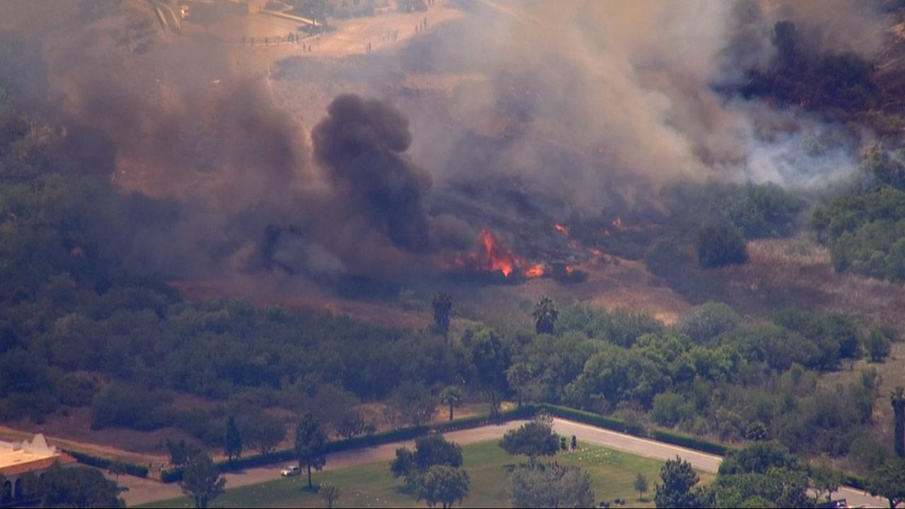 A brush fire was reported at about 12 p.m. in Simi Valley on Tuesday, May 28, 2013.
