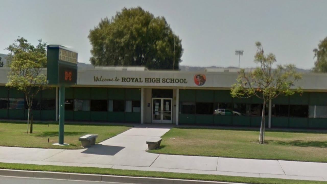 The exterior of Royal High School in Simi Valley is seen in this image from Google Maps.