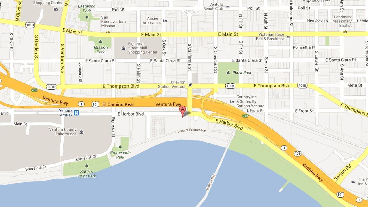 An investigation is under way in Ventura after two men were shot in the area of the Ventura beachfront promenade near the Crowne Plaza Ventura Beach Hotel on Saturday, June 15, 2013.