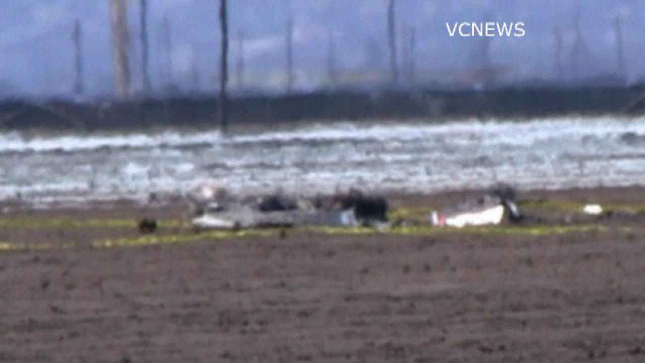 Two people were killed when a small plane crashed and burst into flames in a field near the Oxnard Airport on Saturday, June 29, 2013.