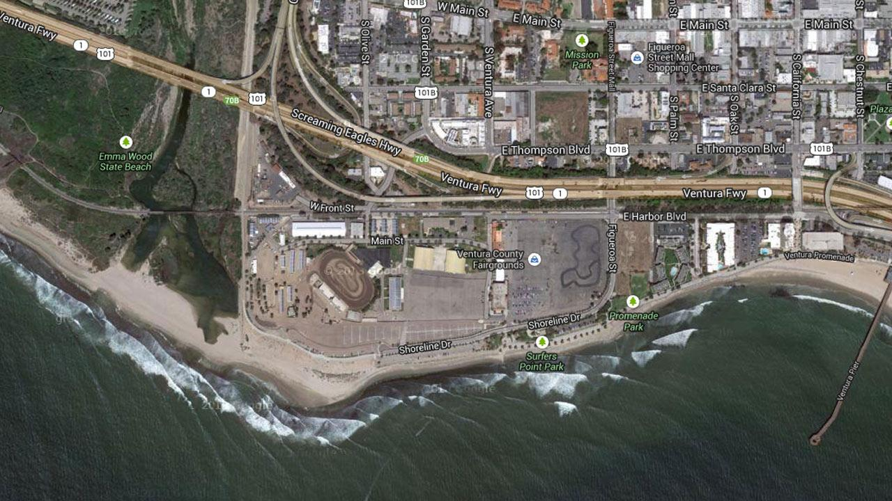 This Google Maps image shows the Ventura County Fairgrounds.
