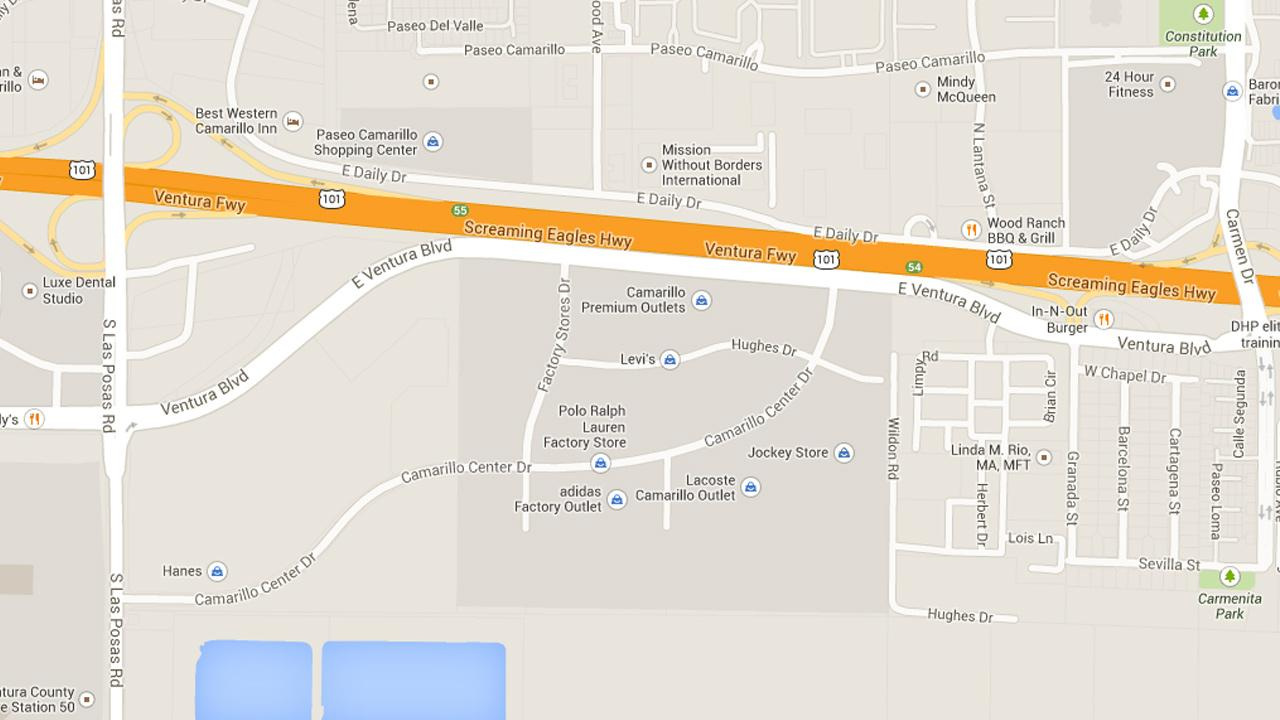 This Google Maps image shows the location of Camarillo Premium Outlets.