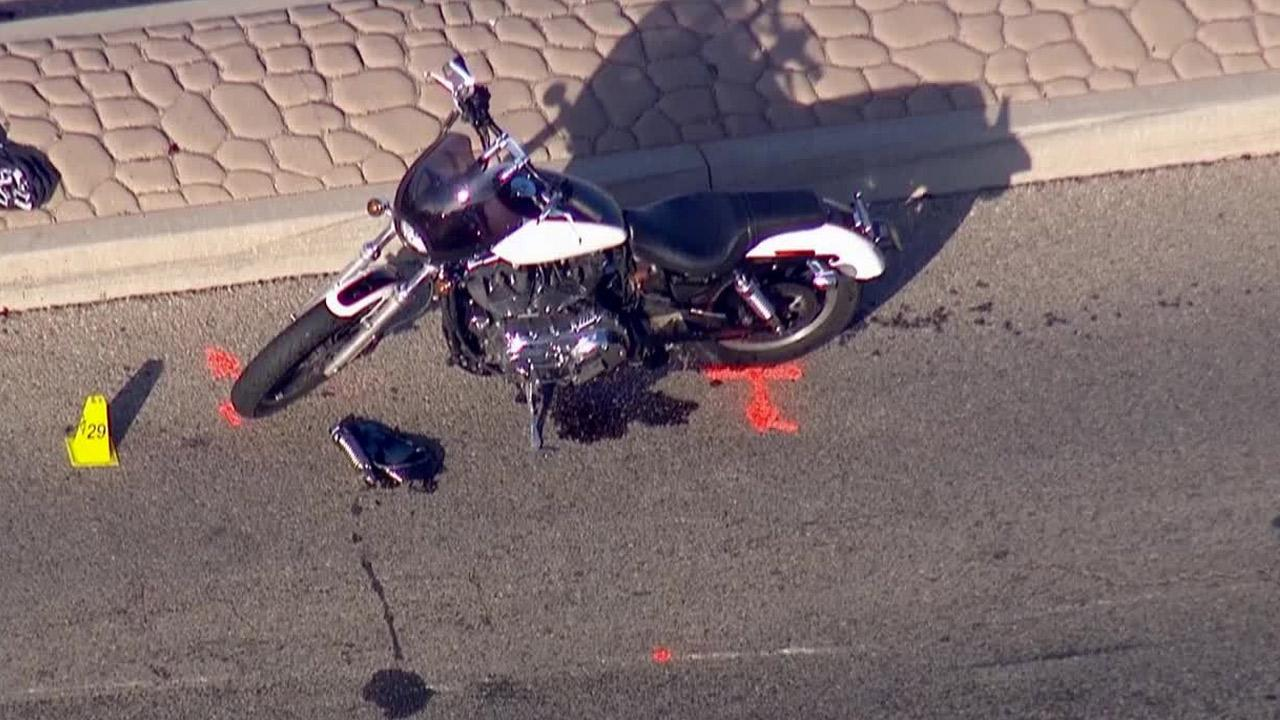 Oxnard police investigate a hit-and-run crash that seriously injured a motorcyclist Thursday, Jan. 23, 2014.
