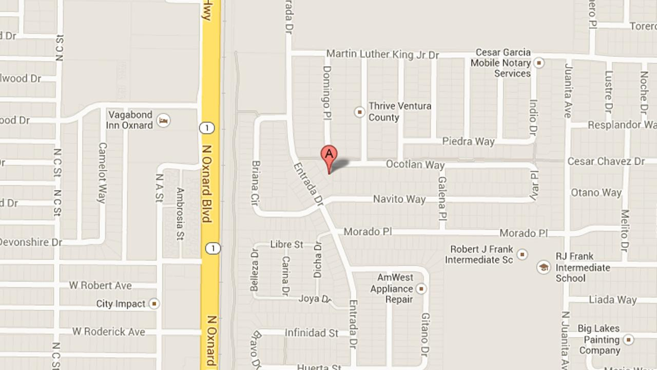 A map indicates the 400 block of Ocotlan Way, where Oxnard police arrested 10 people on narcotics charges on Thursday, Jan. 30, 2014.