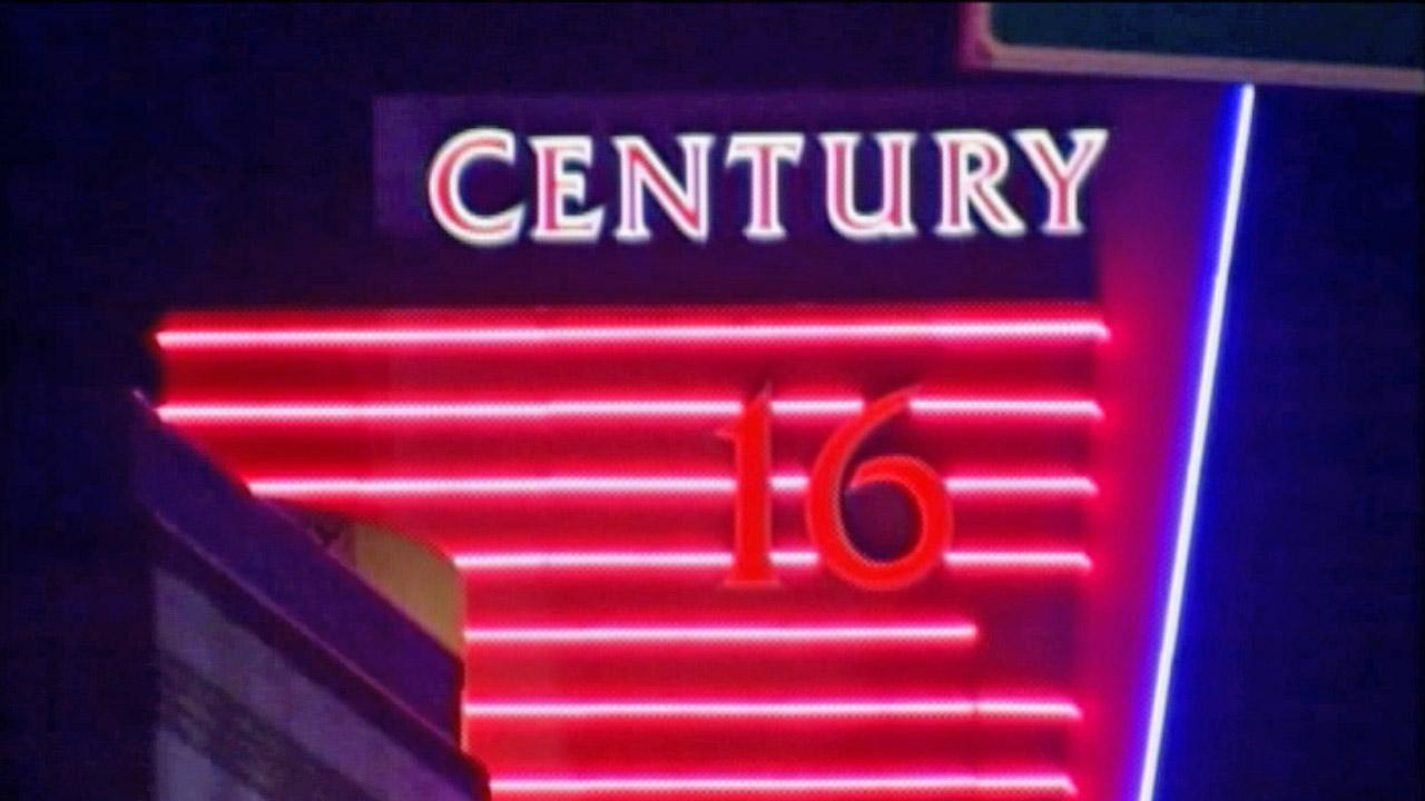 The Century 16 Movie Theaters at the Aurora Town Center is shown in this July 20, 2012 photo.