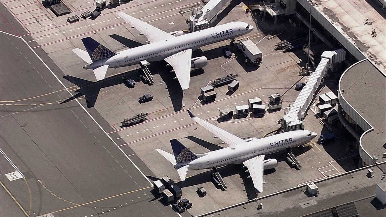 United Airlines airplanes are seen in this undated file photo.