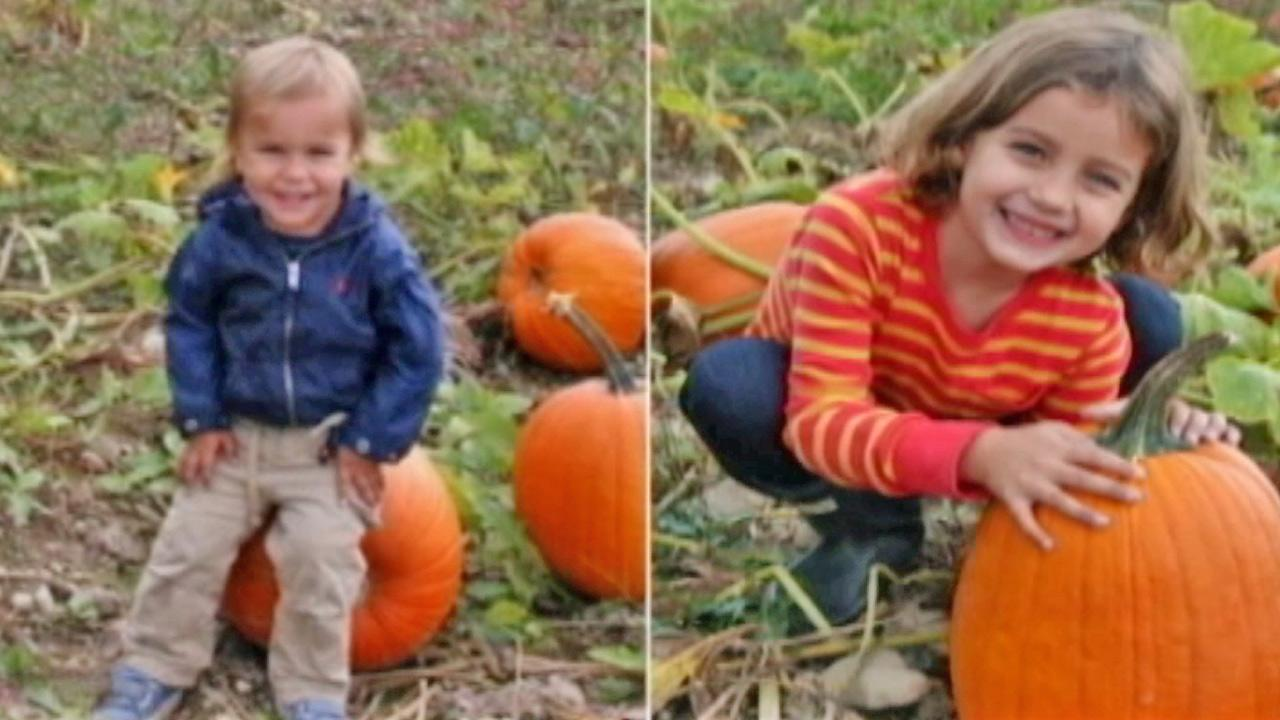 Two-year-old Leo Krim (left) and 6-year-old Lucia Krim (right) are seen in this split image. The two were allegedly fatally stabbed by their nanny, Yoselyn Ortega, on Oct. 25. Ortega was formally charged in their murders on Saturday, Nov. 3, 2012.