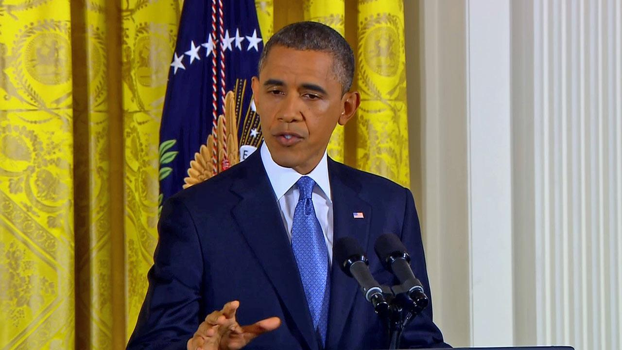 President Barack Obama speaks during a news conference in the East Room of the White House in Washington Wednesday, Nov. 14, 2012.