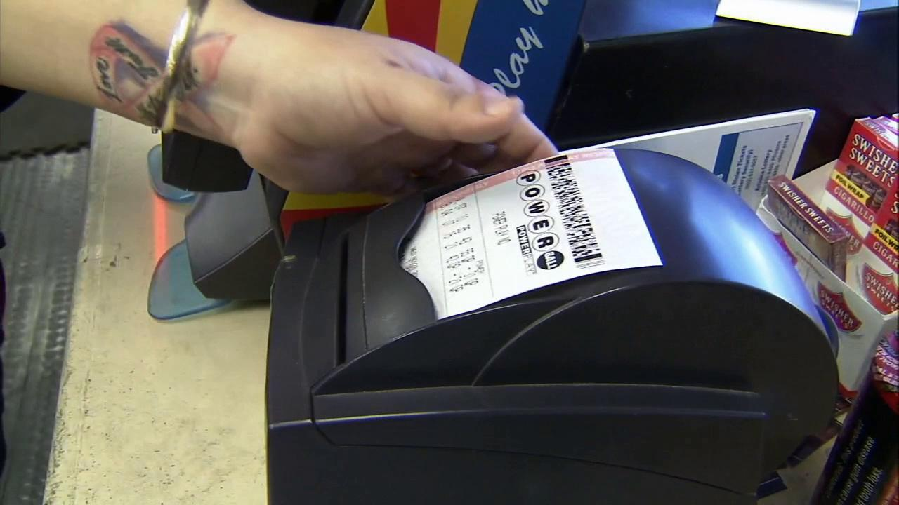 A Powerball ticket is printed at a convenience store in Ehrenberg, Ariz., on Wednesday, Nov 28, 2012.
