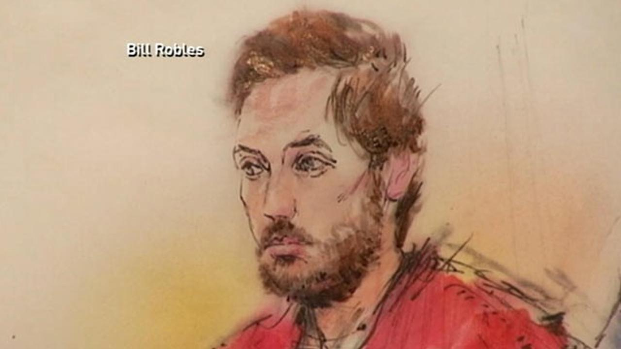 James Holmes, accused in the Colorado theater shooting, is seen in court on Tuesday, Jan. 8, 2013, in this courtroom sketch.