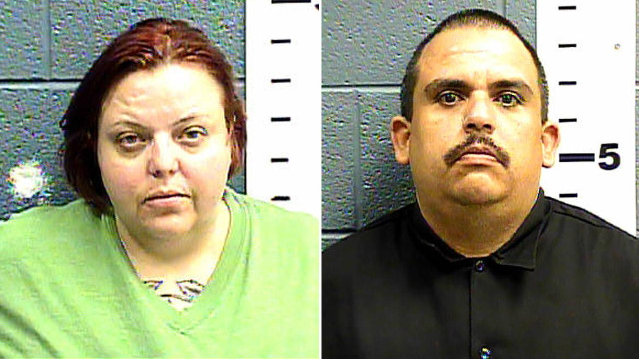 Cindy Patriarchias, 33, and Edmond Gonzales, 37, were arrested Friday, Jan. 25, 2013, after officers found an 8-year-old girl home alone in a wooden cage.