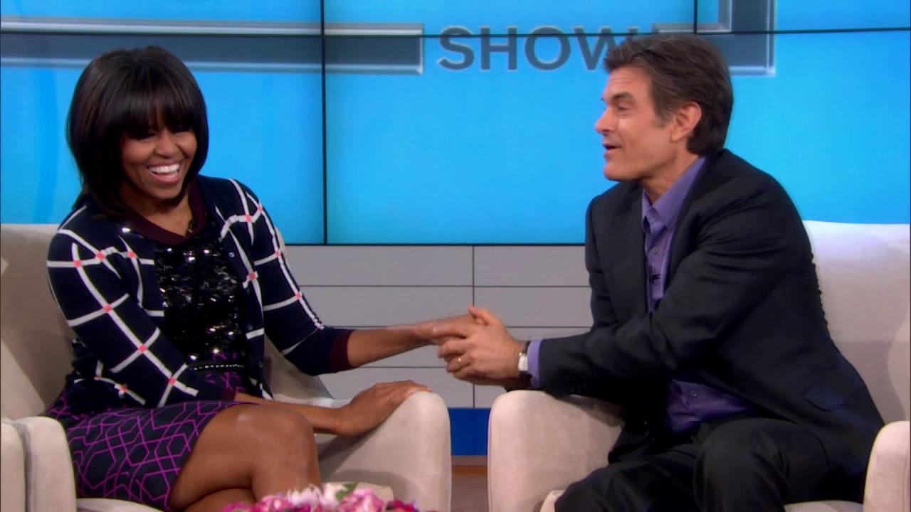 First lady Michelle Obama appears on The Dr. Oz Show on Thursday, Feb. 28, 2013.