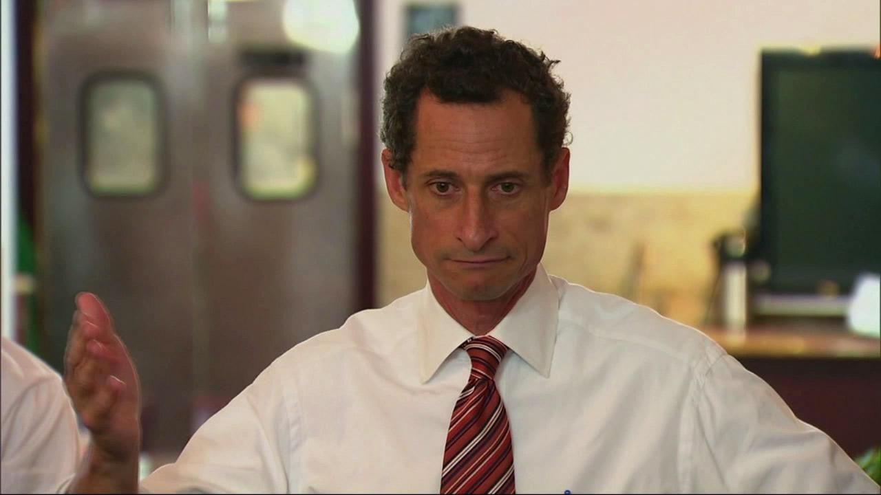 Anthony Weiner, New York mayoral candidate, speaks during a news conference, Thursday, July 25, 2013, in New York.