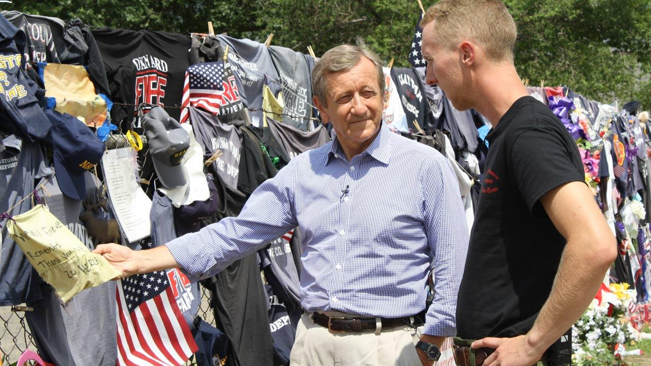 ABC News Brian Ross speaks with Brendan McDonough, the sole surviving member of the Granite Mountain Hotshot team.