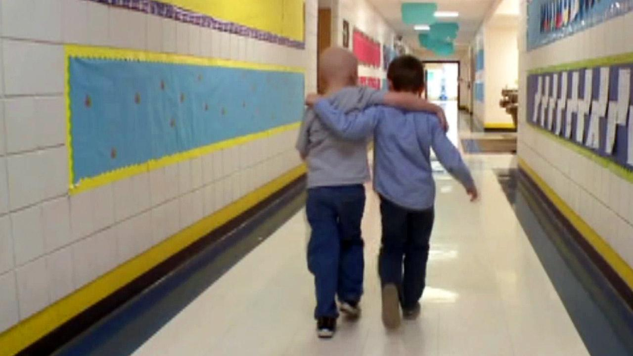A Missouri first-grader knows the meaning of true friendship, and hes proving it by shaving his head as his buddy battles cancer.