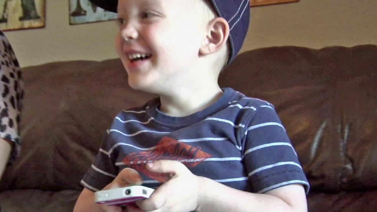 Bentley Toone, 2, of Arizona, is seen in this undated photo. He used Facetime to help save his mom after she was attacked by a dog.