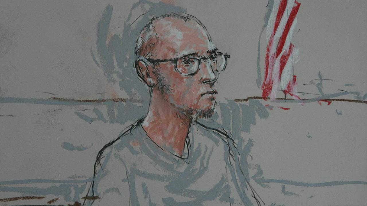 Nicholas Teausant, 20, is seen in a courtroom sketch on Monday, March 17, 2014.