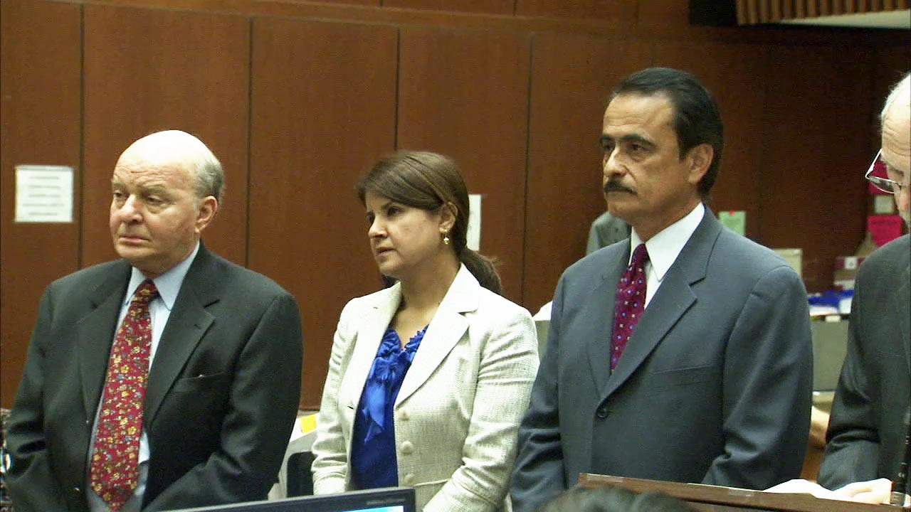 Los Angeles City Councilman Richard Alarcon and his wife are seen in court in this undated file photo.